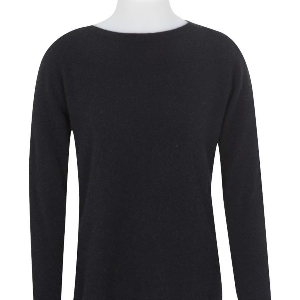 Native World Black Crew Neck Plain Sweater