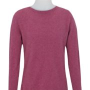 Native World Raspberry Crew Neck Plain Sweater