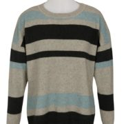 Native World Topaz Crew Neck Striped Sweater