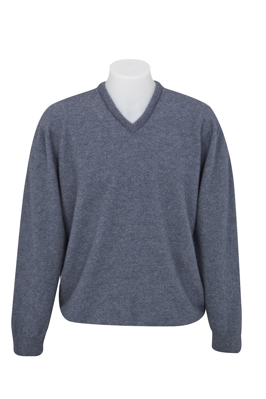 Native World Sky V-Neck Plain Knit Sweater