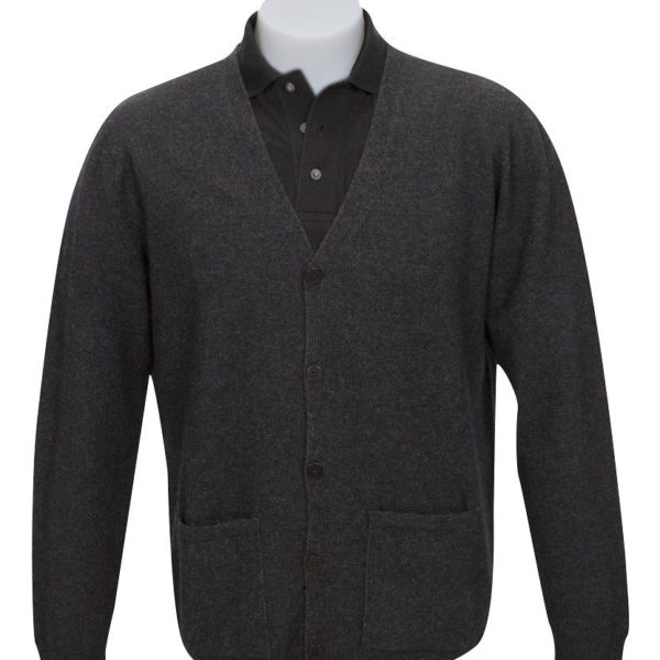 Native World V-Neck Plain Cardigan
