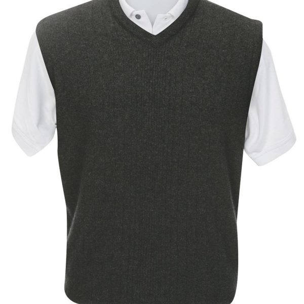 Native World Charcoal V-Neck Rib Feature