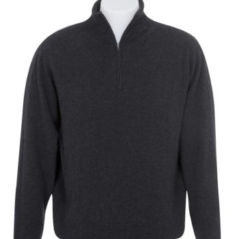 Native World Charcoal Lightweight Half Zip Sweater
