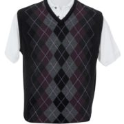 Native World Port V-Neck Argyle Vest