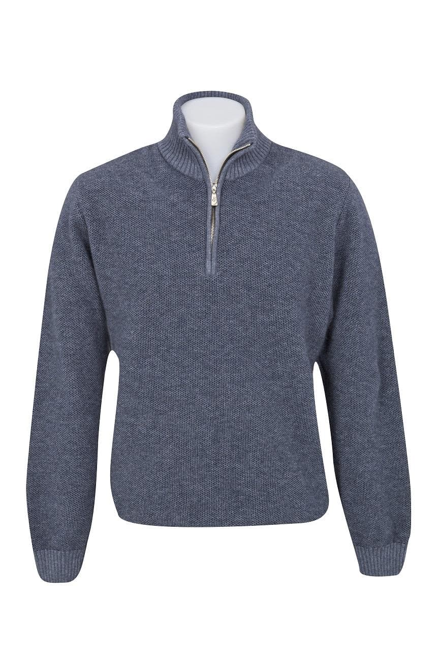 Native World Sky Textured Half Zip Sweater