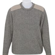 Native World Flax Crew Neck Rack Knit Sweater