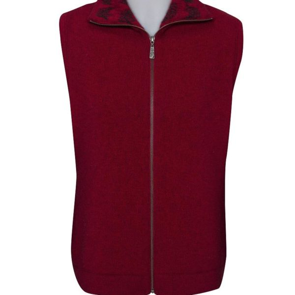 Native World Berry Fern Zip Vest