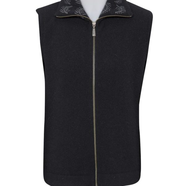 Native World Black Fern Zip Vest