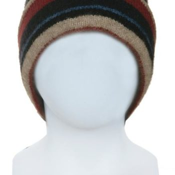Native World Flax Striped Beanie