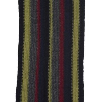 Native World Midnight Striped Scarf