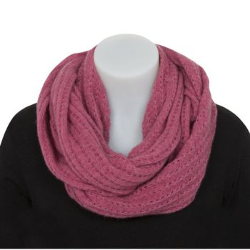 Native World Lace Raspberry Endless Scarf