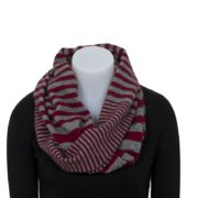 Native World Berry Striped Endless Scarf