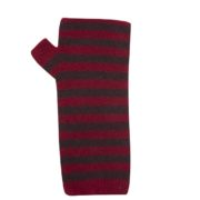 Native World Berry Two Tone Striped Wrist Warmer