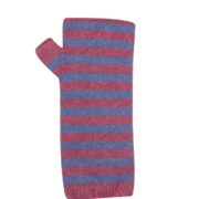 Native World Raspberry Two Tone Striped Wrist Warmer