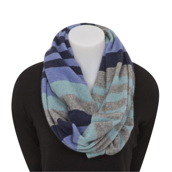 Native World Bluebell 4 Tone Block Colour Loop Scarf