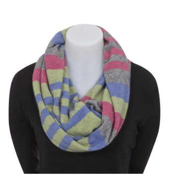 Native World Multi 4 Tone Block Colour Loop Scarf