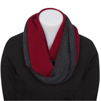 Berry Two Tone Endless Scarf