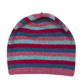 Native World Raspberry Striped Beanie