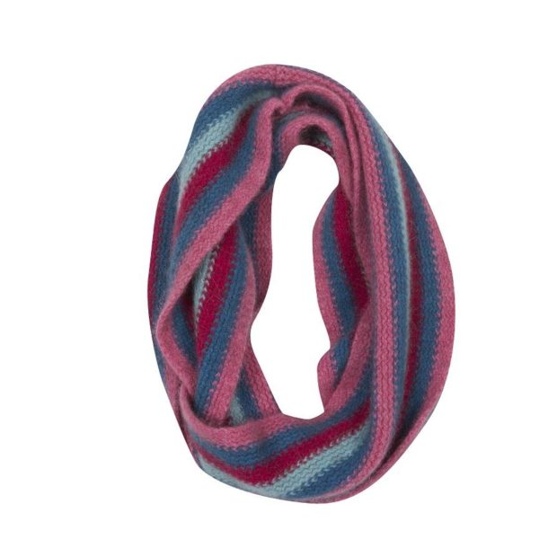Native World Raspberry Striped Loop Scarf