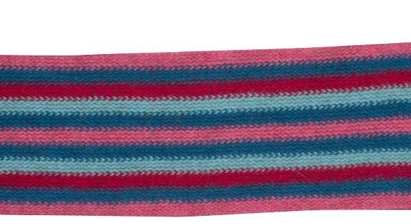 Native World Raspberry Striped Loop Scarf Side View