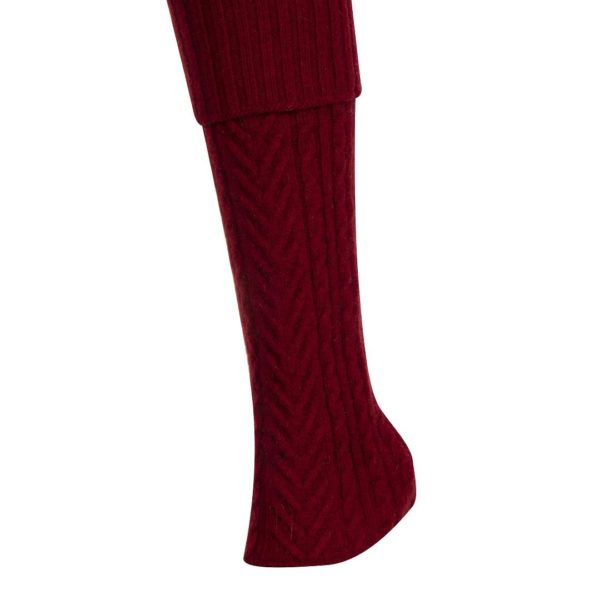 Native World Berry Cable Leg Warmer