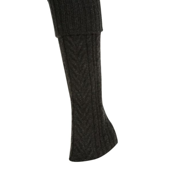 Native World Charcoal Cable Leg Warmer