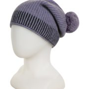 Native World Orchid Slouch Beanie with Pom-Pom