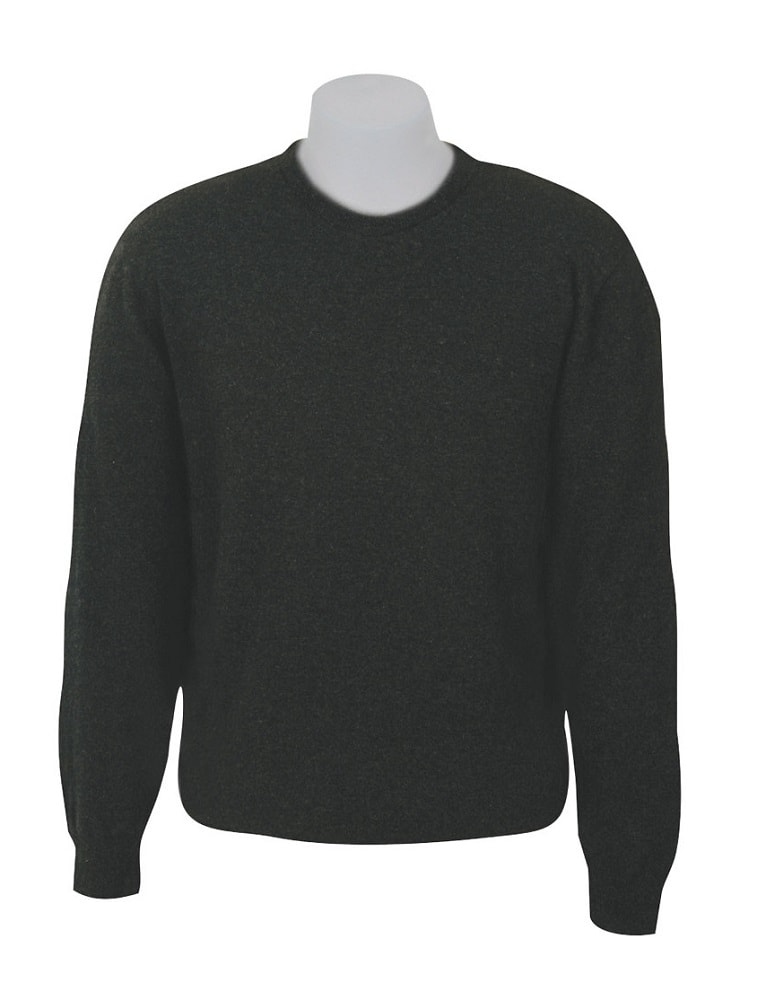 Native World Charcoal Crew Neck Plain Knit Sweater