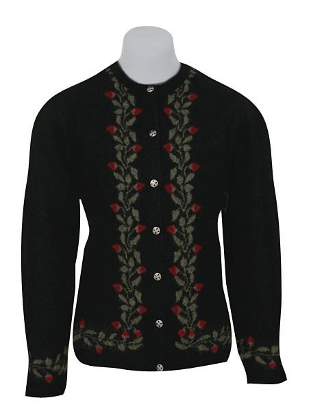 Native World Black Climbing Petal Cardigan