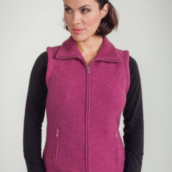 Koru Cerise Shaped Zip Vest