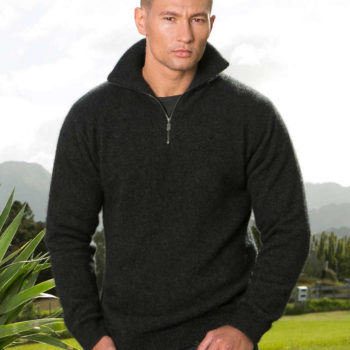 Koru Charcoal Lightweight Zip Jumper