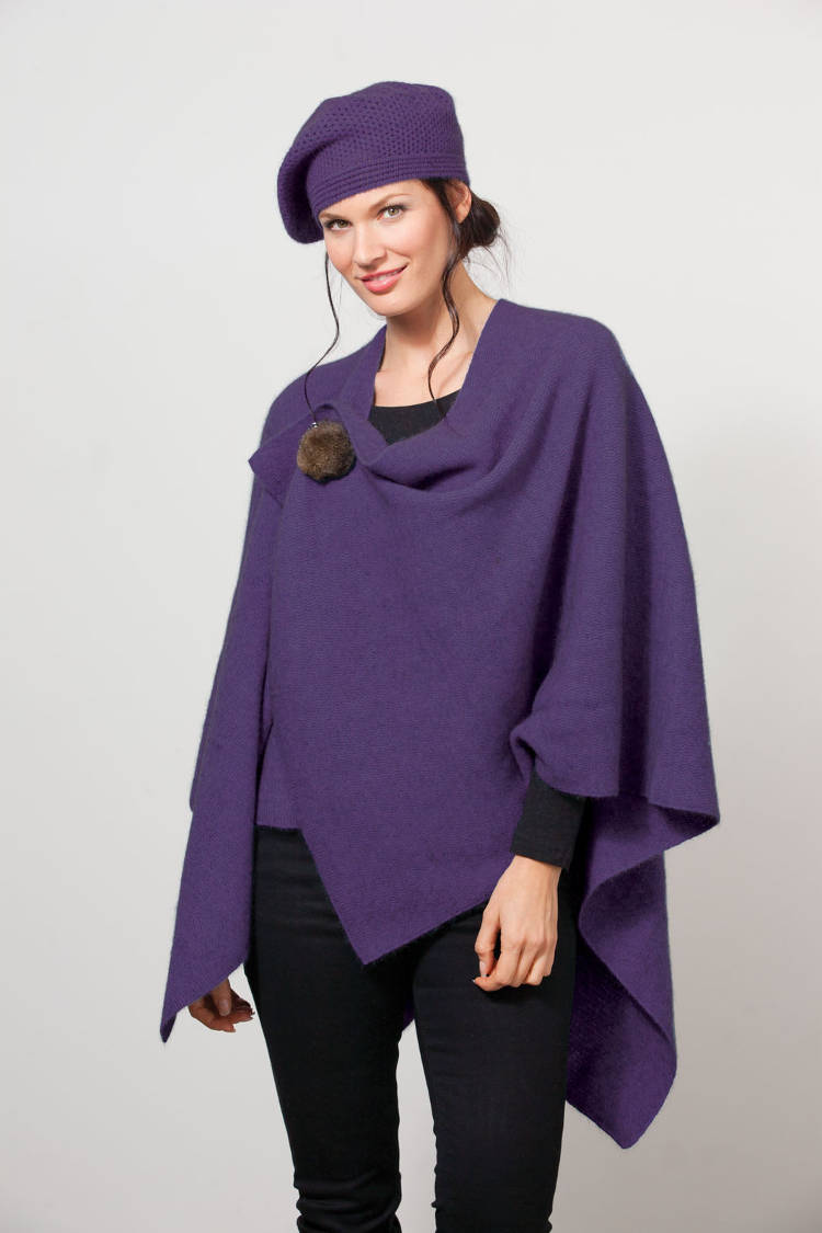 Possumdown Amethyst Cocoon Wrap