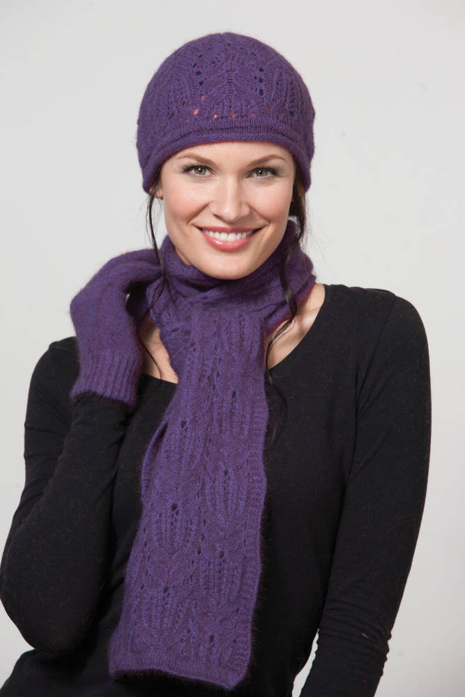 Possumdown Amethyst Chunky Cable Scarf