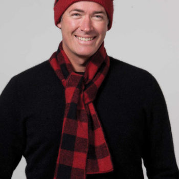 Possumdown Red/Black Bush Check Beanie/Scarf