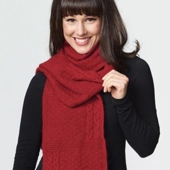 Possumdown Ruby Cable Scarf