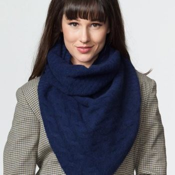 Possumdown Navy Cable Twist Scarf